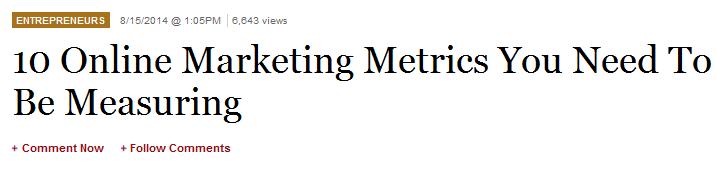 10 online marketing metrics you need to be measuring